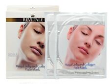 2x Revitale Royal Jelly and Cologen Face Masks 4x Treatments Postage