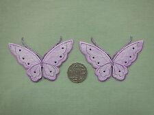 Butterfly Lilac Lace Motifs x 2  (M450)