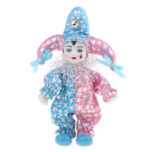 20cm Lovely Italian Triangel Doll w/ Tear in Costume Collectible Pink Blue