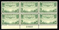 USAstamps Unused VF-XF US Airmail Clipper Plate Block Scott C21 OG MNH