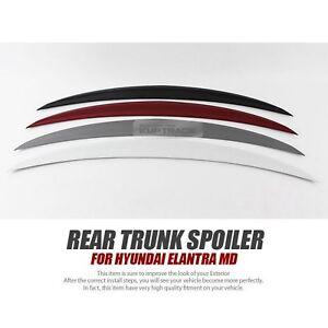 Rear Trunk Wing Lip Spoiler Molding 5Color For HYUNDAI 2011 - 2016 Elantra MD