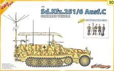 Cyber Hobby 1:35 Sd.Kfz.251/6 Ausf.C Command Vehicle + German Staff Kit #9150