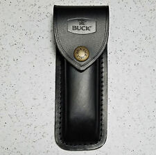 BUCK 110 LEATHER SHEATH FOR 5 INCH CLOSED FOLDING KNIFE, FIRST QUALITY,  BU110S