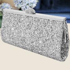 aec880a98d Women Sparkly Crystal Evening Clutch Bag Wedding Bridesmaid Fashion Handbag