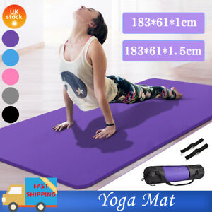 XXL Thick 61x 185cm Yoga Mat Dumbells Gym Exercise Bike Fitness Pilates Non Slip