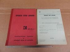 MANUALE ORIGINALE 1968 ALFA ROMEO GIULIA 1300 JUNIOR SPIDER + ALLEGATO 1969