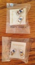 NEW Lot of 2 Vintage The SMURFS Post Style Pierced Earrings