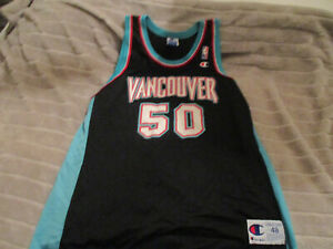"VERY RARE VANCOUVER GRIZZLIES # 50 BRYANT ""BIG COUNTRY"" REEVES JERSEY Sz 48"