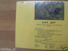 G0300 GMF---TECHNICAL INFO BOY----MODELYEAR ABOUT-->1951-