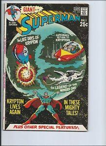 SUPERMAN 232 - F- 5.5 - SUPERBOY - LANA LANG - LOIS LANE - G-78 (1970-71)