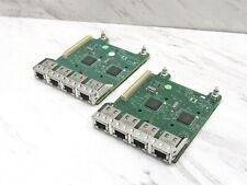Lot of 2 Dell Broadcom 5720 Quad-Port 1GbE Base-T Network Daughter Card 0Fm487