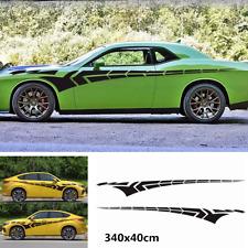 Car Truck Body Racing Side Door Long Stripe Stickers Auto Vinyl Decal 340x40cm
