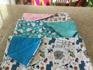 Handmade flannel pet blankets, multiple choices!