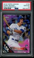2016 Topps Chrome Corey Seager Pink Refractor RC #150 PSA 10 Gem Mint Rookie
