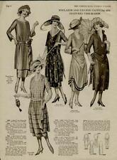 1920's FASHION STYLES - FOULARDS & TAFFETAS ARE FEATURED- 2 PAGES - #N052