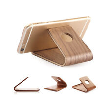 WOODEN Cell Phone Holder Smartphone Natural Bamboo Wood Mobile Phone Stand Mount