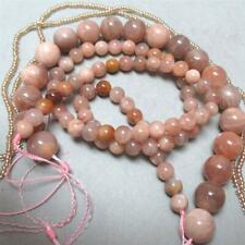 Fawn/pink, Moonstone Beads, 10mm and 6mm, Round, + seed
