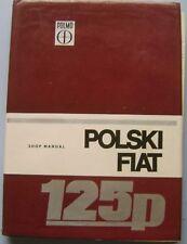 Polski Fiat 125p 1300 1500 original Shop Manual (Workshop) circa 1975? English