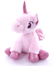 "NEW 9"" SITTING UNICORN PLUSH SOFT TOYS CUDDLY HORSE TEDDY PINK UNICORN"