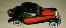 1980 Mattel Hot Wheels 1937 Bugatti Black Dark Orange Retro Vintage diecast car