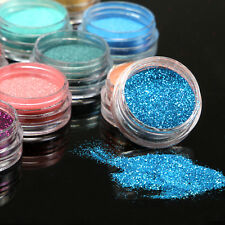 15/30 Mix Color Loose Eyeshadow Satin Glitter Eye Pigment Powder Makeup Kit ~