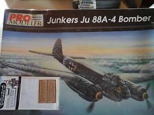 JUNKERS JU 88-A4 BOMBER 1/48 SCALE PRO MODELER MODEL+N.2 PHOTOETCHED PARTS+BOOK