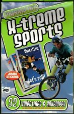 Vintage Prismatic X-treme Sports Valentine's 32 Count Cards - New In Box