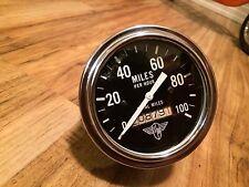 Vintage Stewart Warner Wings 100 MPH Speedometer Gauge Instrument Hot Rod SCTA