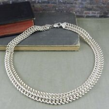 Italy Sterling Silver Heavy Link Chain Necklace
