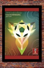 """2018 FIFA World Cup Russia Poster Soccer Tournament   Ekaterinburg   13"""" x 19"""""""