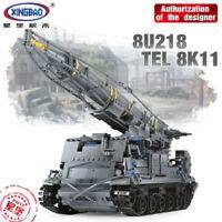 Bausteine Xingbao Ostern 1750PCS Militärische Serie The 8U218 TEL 8K11 Spielzeug