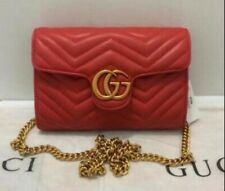 Gucci Red Crossbody Bag.