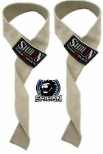 SHIHAN  Weight Lifting Straps SUEDE/LEATHER Hand Bar Wrist Support Straps/Gloves