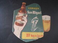 DIPTICO XV VUELTA CICLISTA ESPAÑA. PUBLICIDAD CERVEZA SAN MIGUEL. AÑO 1960