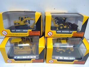 4 CAT Norscot Construction Minis 1/87-Backhoe/Excavator/Wheel Loader/Dozer (HO61