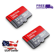 Lot of 2, SanDisk Ultra 32GB SDXC UHS-I micro SD TF Flash Memory Card A1= 64G