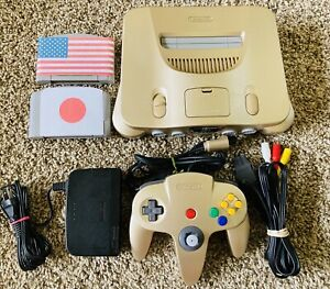 Authentic Gold Nintendo 64 N64 OEM Console Set  + GAMES *REGION FREE* FAST Ship