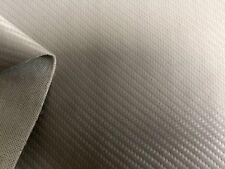 Kunstleder Carbon Look SILBERGRAU Meterware schwer Entflammbar dehnbar&Lichtecht