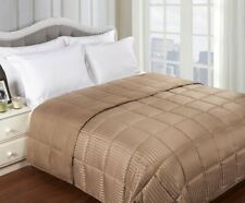 Twin/TwinXL Taupe Reversible Polyfill Down Alternative Microfiber Shell Blanket