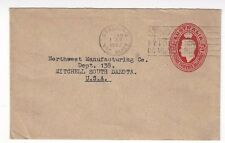 Geelong, Victoria Australia, 2 1/2d KGVI Stationery Entire to Mitchell SD