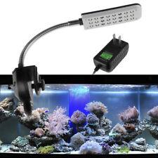 LED Aquarium Fish Tank Clip Light 24-led White & Blue Light with US plug
