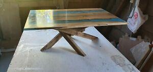 Oak Epoxy Table