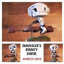 Funko Pop STAR WARS - Smugglers Bounty Endor Box - SCOUT TROOPER ON SPEEDER BIKE