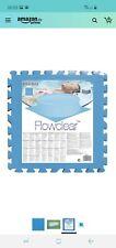 Bestway,Flowclear Pool Bodenschutzfliesen Set,8 Stück a 50x50 blau 0,4cm (2qm)