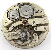 .ANTIQUE UNBRANDED HIGH GRADE 16S POCKET WATCH MOVEMENT & DIAL.