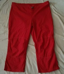 WOMENS GIRLS RED LIGHTWEIGHT NYLON OUTDOOR TROUSERS BY C&A CLOCKHOUSE SIZE 12