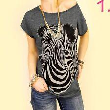 Taillenlang Damenblusen,-Tops & -Shirts mit Viskose und Tiermuster für Freizeit