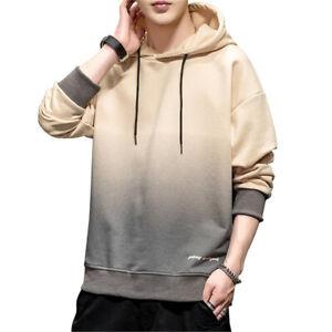 Mens Fashion Hoodie hooded Sweater Workout Top Casual Hip Hop Coat Sweatshirt