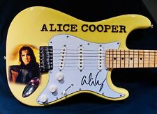 ALICE COOPER-Rare Autographed Electric Guitar-Goth Hard Rock-EPPERSON COA