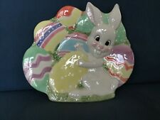 Fitz And Floyd Canape Plate - Gathering Eggs - Easter Decoration